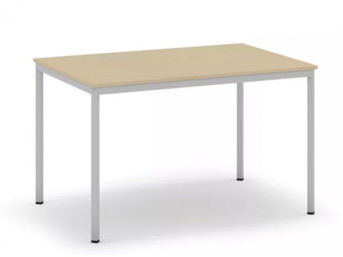 Jídelní stůl, světlešedá konstrukce, 1200 x 800 mm, bříza