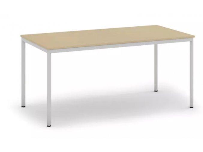 Jídelní stůl, světlešedá konstrukce, 1600 x 800 mm, bříza
