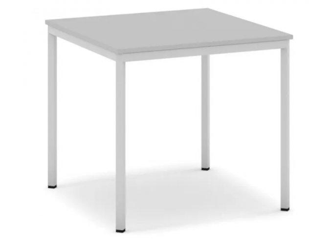 Jídelní stůl, světlešedá konstrukce, 800 x 800 mm, šedá