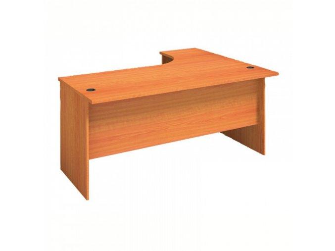 MIRELLI A+ Kancelářský stůl ergonomický, levý, třešeň, 1400/800 x 1200/420 x 750 mm