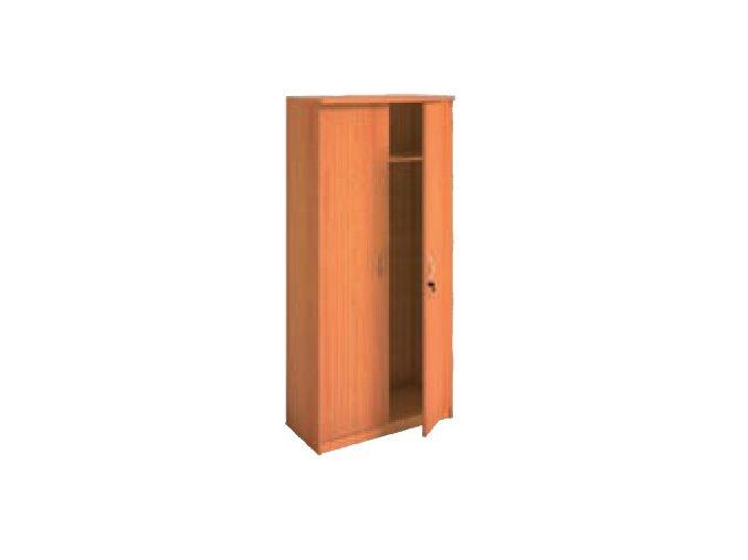 MIRELLI A+ Šatní skříň, třešeň, 800 x 400 x 1800 mm