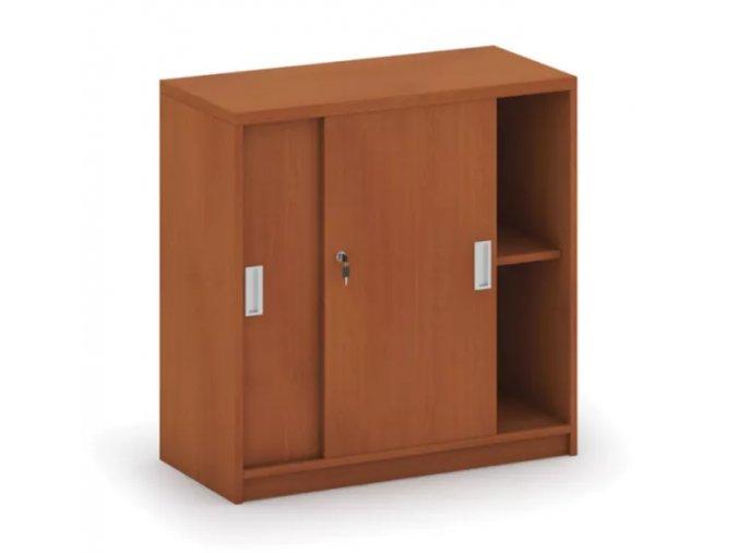 MIRELLI A+ Kancelářská skříň zasouvací, třešeň, 800 x 400 x 800 mm 1