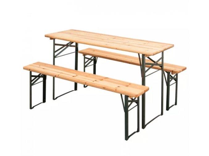 Zahradní set 2x lavice, 1x stůl 1