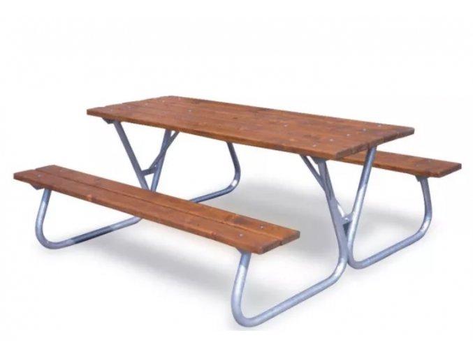 Venkovní stůl s lavicemi
