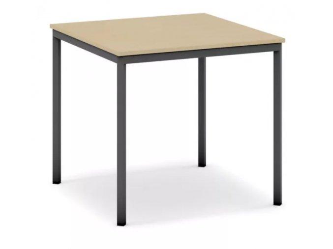 Jídelní stůl, tmavěšedá konstrukce, 800 x 800 mm, bříza