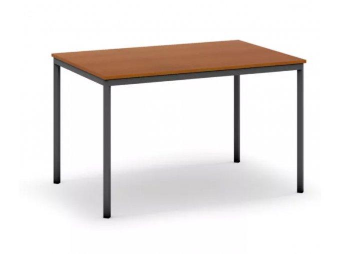Jídelní stůl, tmavěšedá konstrukce, 1200 x 800 mm, třešeň