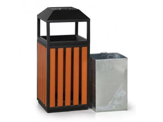 Odpadkový koš s popelníkem, dřevěný, 95 cm 1