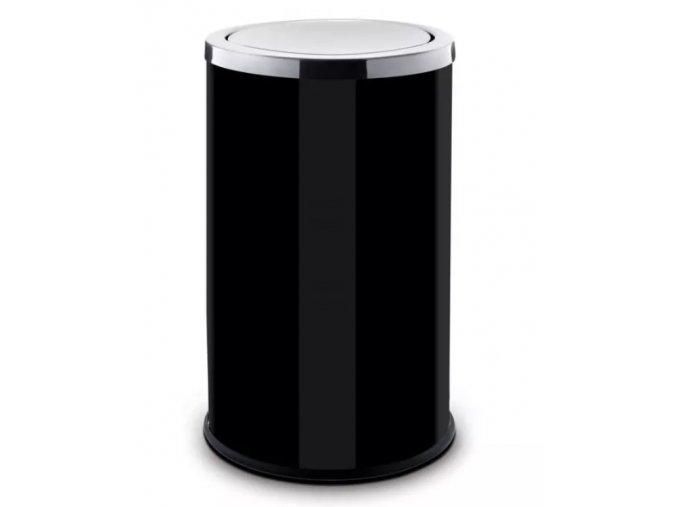 Odpadkový koš 18 L, s výkyvným víkem, lakovaný černý