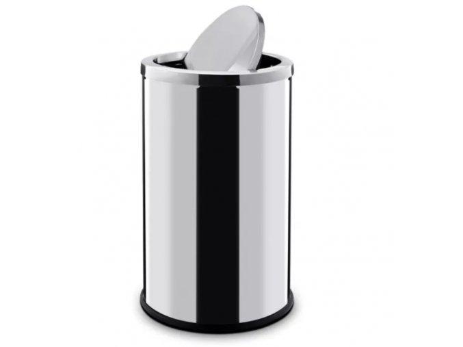 Odpadkový koš 18 L, s výkyvným víkem, nerez lesklý