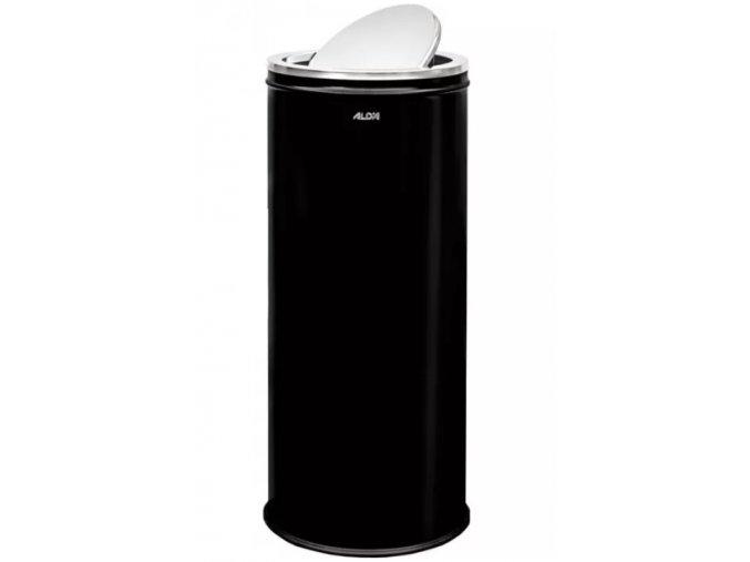 Odpadkový koš 45 L, s výkyvným víkem, lakovaný černý