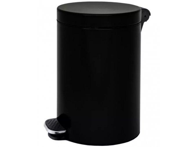 Nášlapný koš 12 L, lakovaný černý