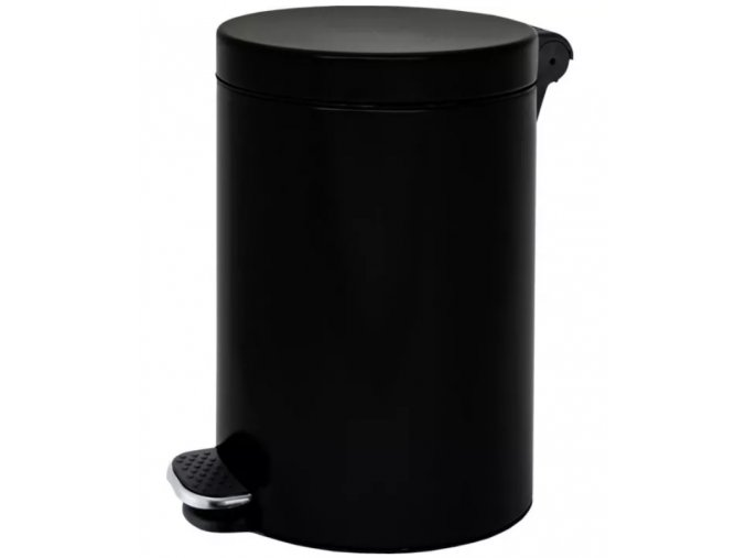 Nášlapný koš 30 L, lakovaný černý