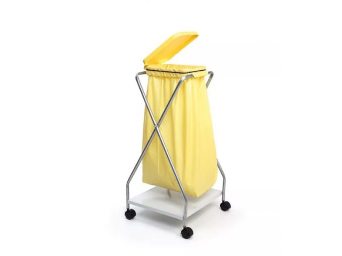 Stojan pojízdný na 1 pytel 70, 120l, žlutý