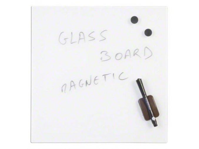 Skleněná popisovací magnetická tabule 48x48 cm, bílá 1