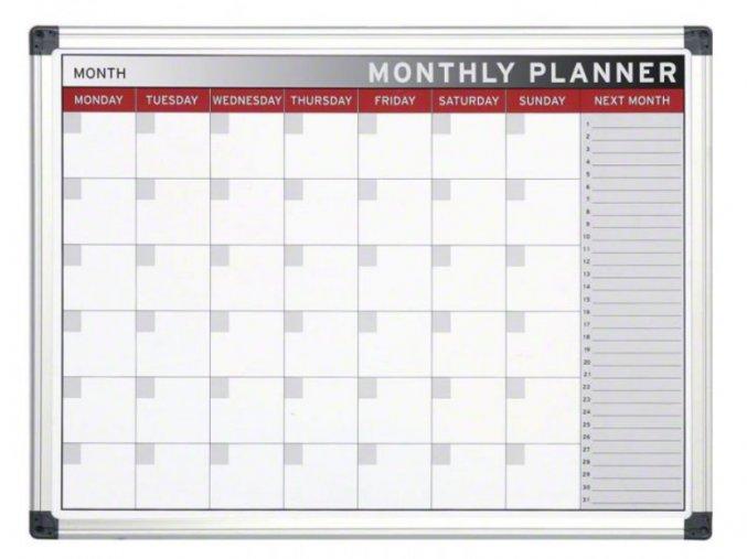 Měsíční plánovací magnetická tabule 1