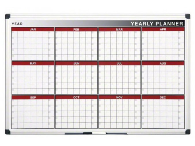 Roční plánovací magnetická tabule 1