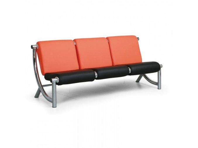 COMODO Sedací souprava Jazzy - 3-místná oranžová