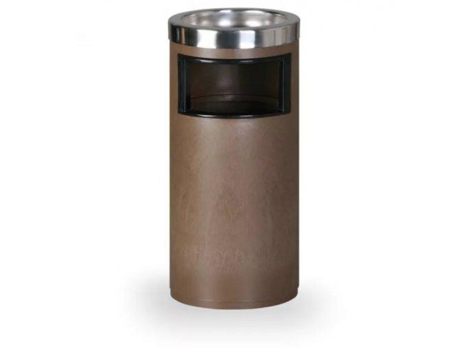 Odpadkový koš s popelníkem, hnědý 1
