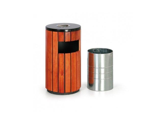 Metalco Odpadkový koš s popelníkem