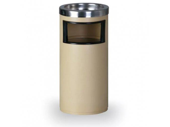 Odpadkový koš s popelníkem, béžový 1