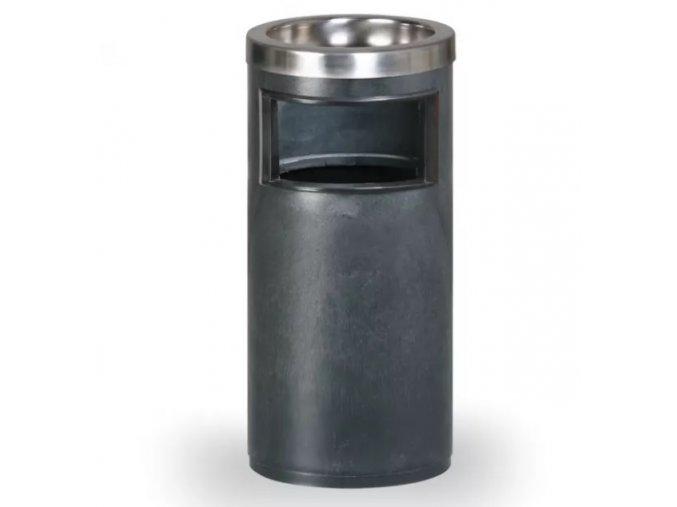 Odpadkový koš s popelníkem, černý 1