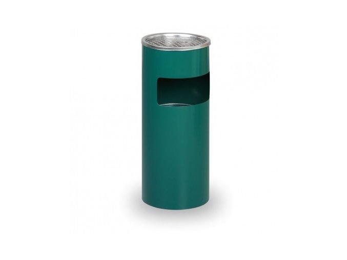 Odpadkový koš s popelníkem, zelený, 60 cm