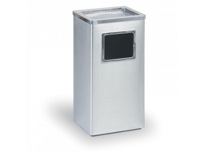 Odpadkový koš s popelníkem, nerez - matný, 60 cm