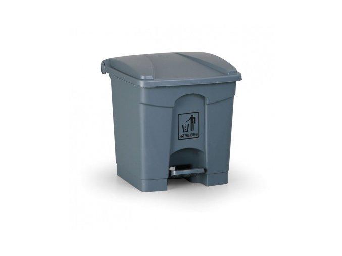 Nášlapný odpadkový koš 30 l, šedý