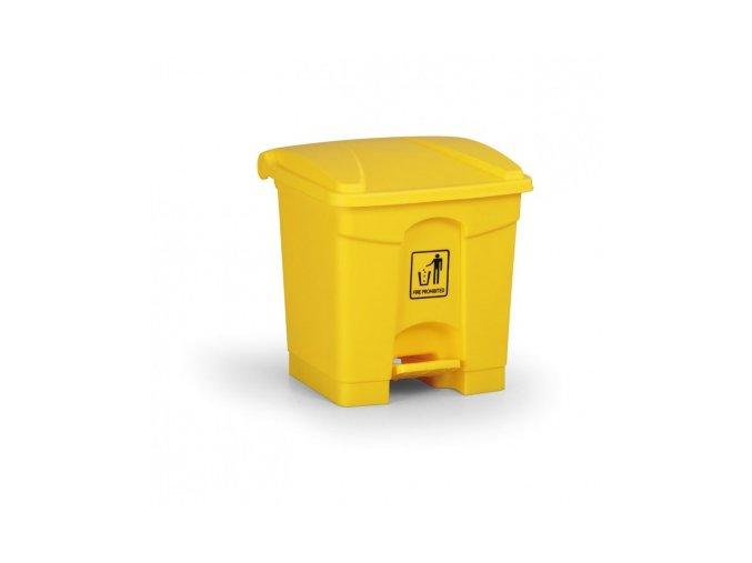 Nášlapný odpadkový koš 30 l, žlutý