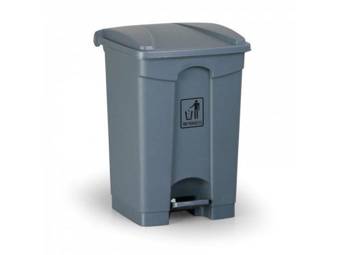 Nášlapný odpadkový koš 45 l, šedý