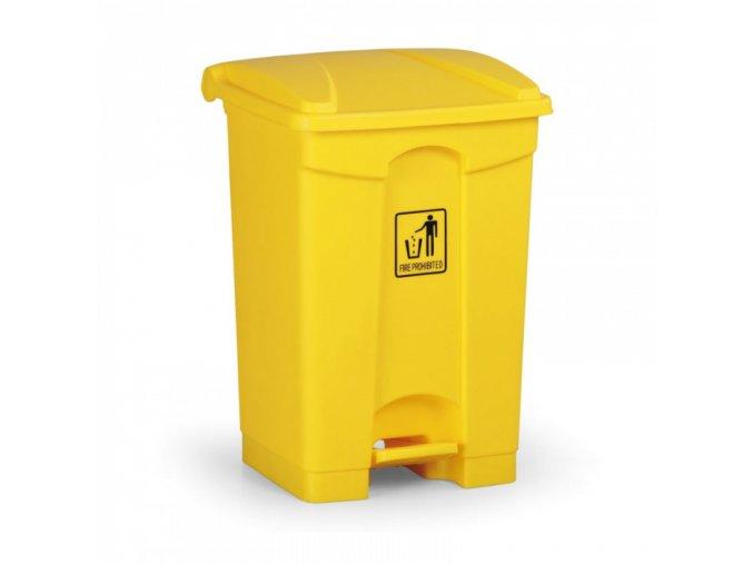 Nášlapný odpadkový koš 45 l, žlutý