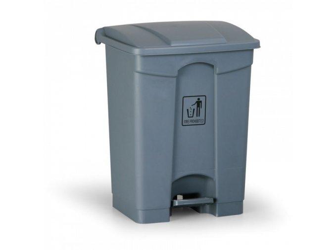 Nášlapný odpadkový koš 68 l, šedý