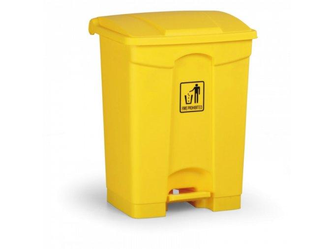 Nášlapný odpadkový koš 68 l, žlutý