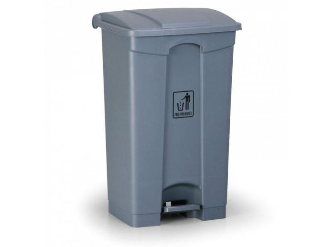 Nášlapný odpadkový koš 87 l, šedý