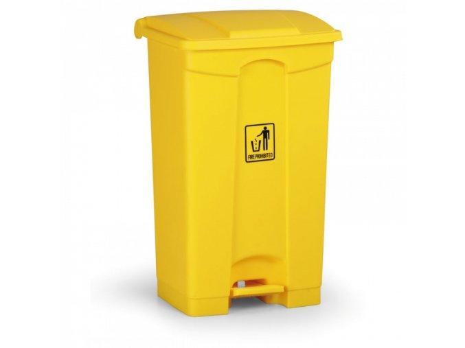 Nášlapný odpadkový koš 87 l, žlutý