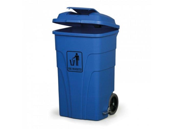 Nášlapný odpadkový koš 120 l, modrý