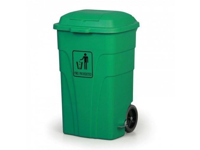 Nášlapný odpadkový koš 120 l, zelený