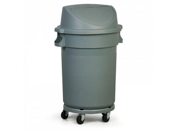 Průmyslová nádoba na odpad s výklopným víkem, 120 litrů