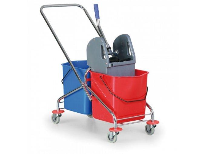 Kovový úklidový vozík