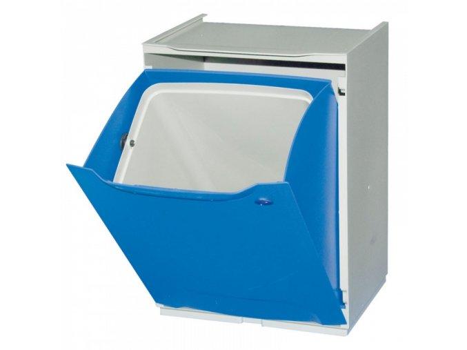 Odpadkový koš na tříděný odpad, modrý