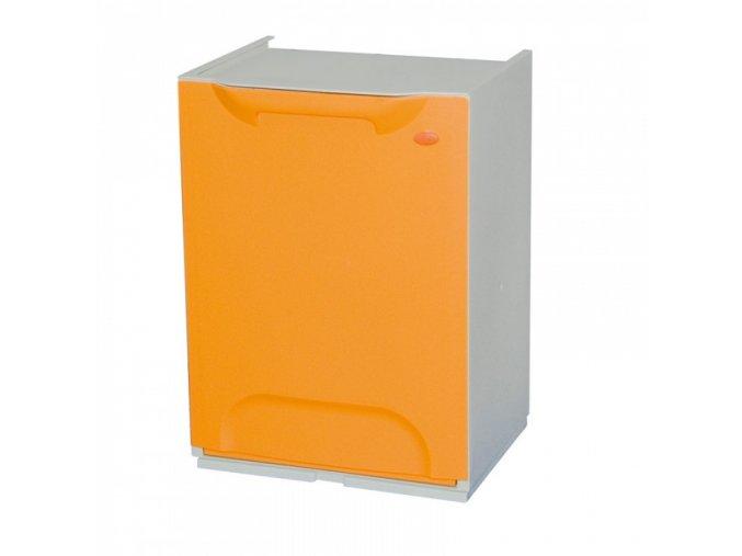 Odpadkový koš na tříděný odpad, žluto-oranžový