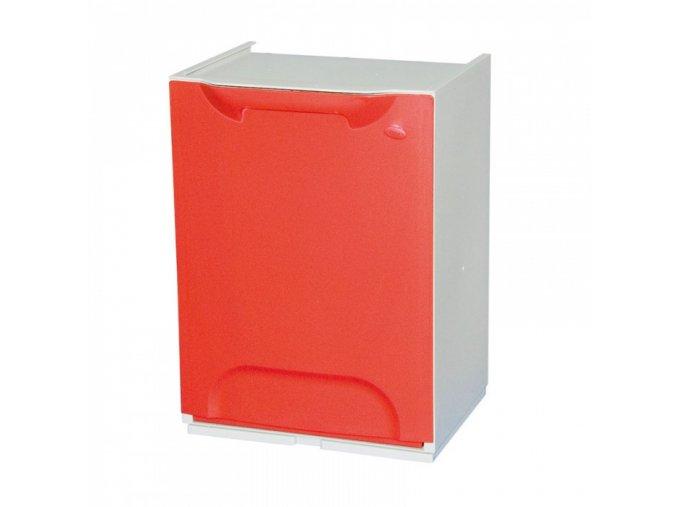 Odpadkový koš na tříděný odpad, červený