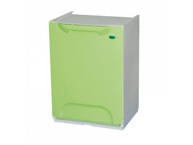 Odpadkový koš na tříděný odpad, zelený