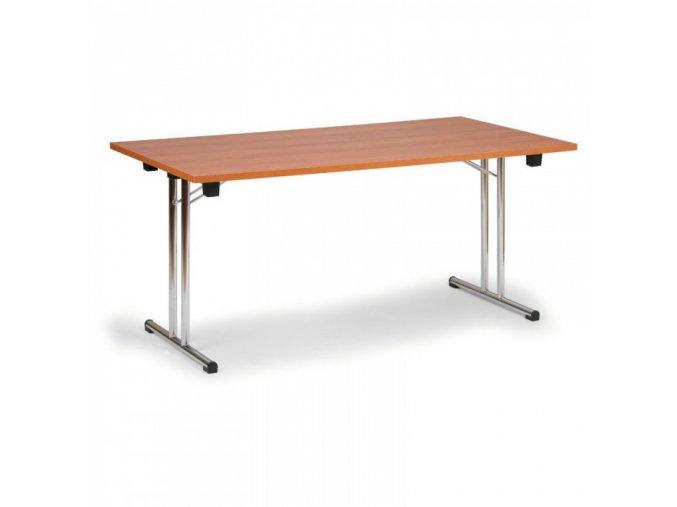 Skládací konferenční stůl, dezén třešeň, 1400 x 700 mm
