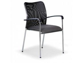 Konferenční židle John Minelli, šedá