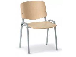 Dřevěná židle ISO, buk, konstrukce šedá