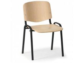 Dřevěná židle ISO, buk, konstrukce černá