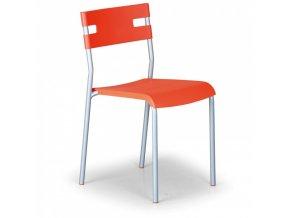 Plastová jídelní židle Lindy, oranžová