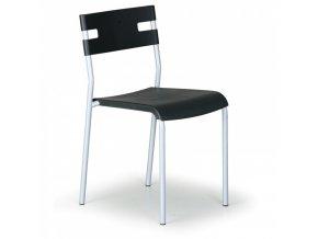 Plastová jídelní židle Lindy, černá
