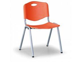 Plastová jídelní židle HANDY, oranžová